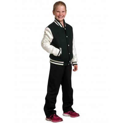 Wool Letterman Wool Blend Varsity Jacket