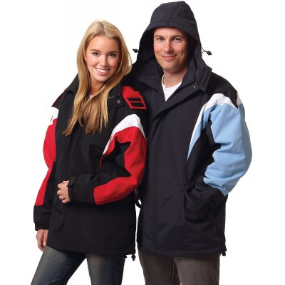 Bathurst Tri-colour Jacket With Hood Unisex