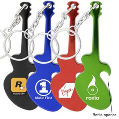 High Caliber Guitar Keychain