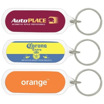 High Caliber Oval Acrylic Keychain