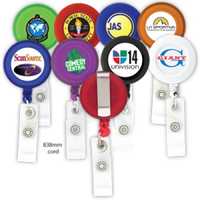 High Caliber Round-Shaped Retractable Badge Holder