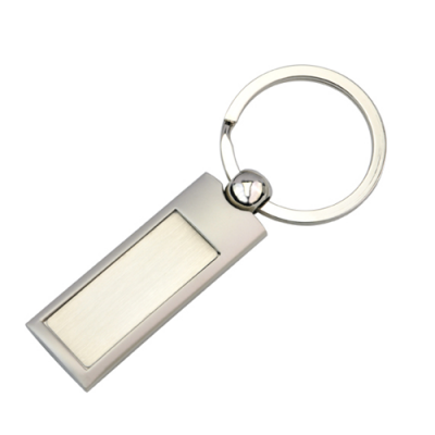 Dex Group Collection Silver Panel Key Ring