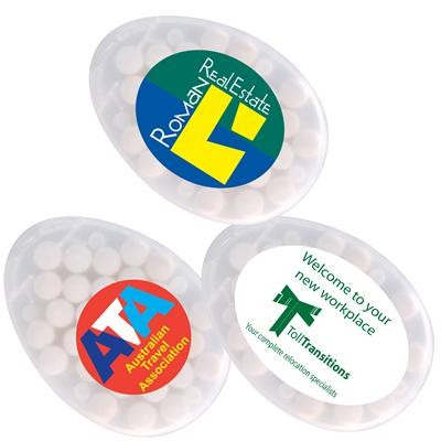 Logo Line Egg Shape Sugar Free Breath Mints | LL062