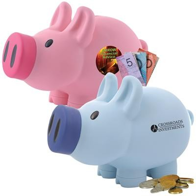 Logo Line Priscilla Pig® (Pink) and Patrick Pig® (Blue) Coin Bank | LL240