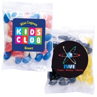 Logo Line Corporate Colour Mini Jelly Beans in 60 Gram Cello Bag | LL31450