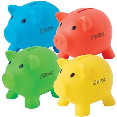 Logo Line Pee Wee Pig PVC Coin Bank | LL3737