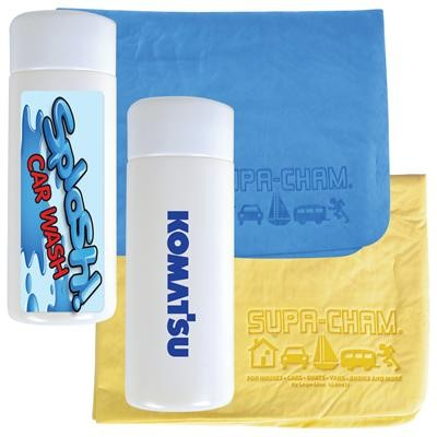 Logo Line Supa Cham Chamois / Body Towel in Tube