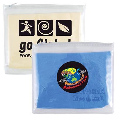 Logo Line Supa Cham Chamois / Body Towel in PVC Zipper Pouch | LL405