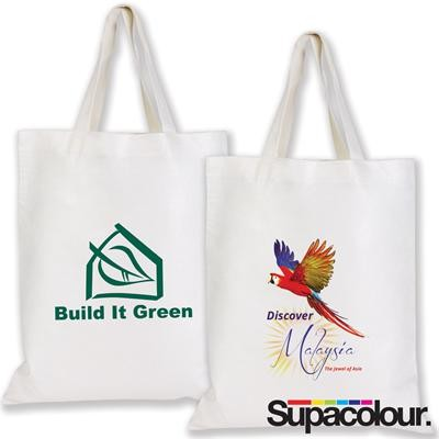 Logo Line Short Handle Bamboo Tote Bag - 100 GSM | LL514