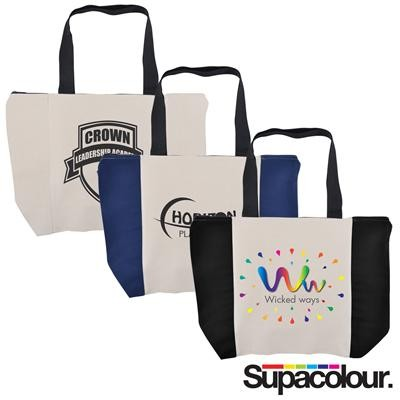 Logo Line Carry All Calico Zip Bag - 305 GSM | LL525