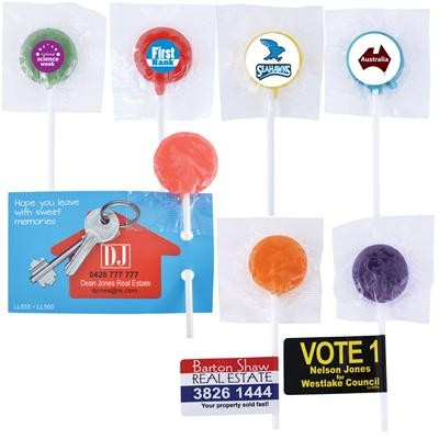 Logo Line Assorted Colour Lollipops | LL555