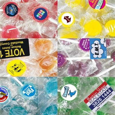 Logo Line Corporate Colour Lollipops | LL560