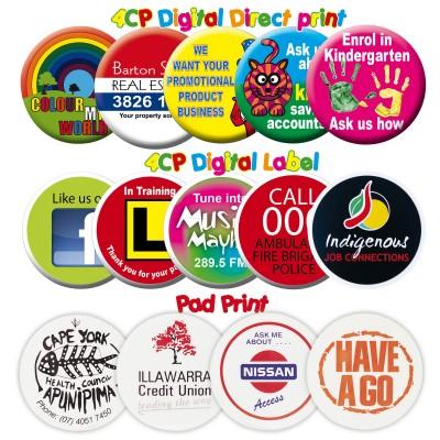 White Plastic Button Badge