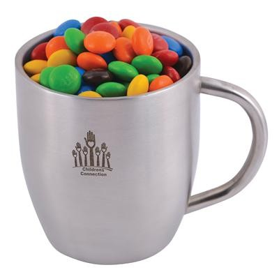 Logo Line M&M's in Stainless Steel Double Wall Curved Mug | LL8641