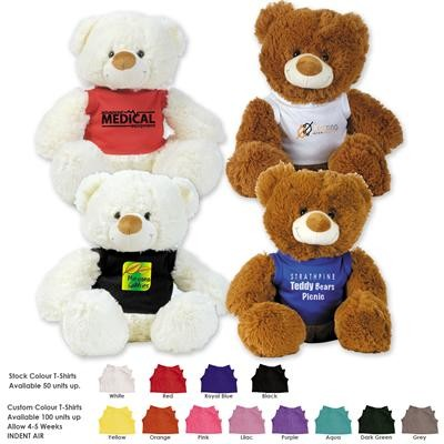 Logo Line Coconut (White) and Coco (Brown) Plush Teddy Bear