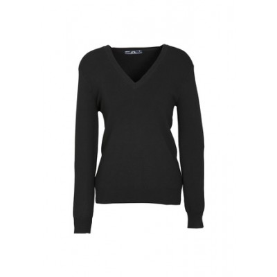 Ladies V-neck Pullover