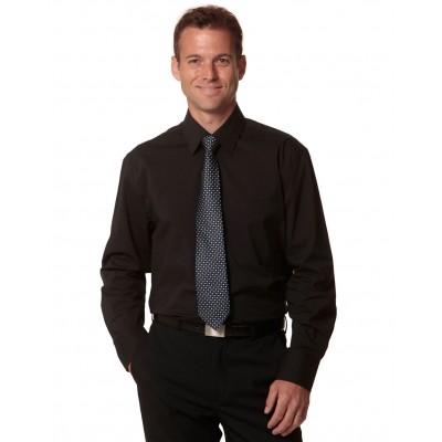 Men's Cotton/Poly Stretch Long Sheeve Shirt
