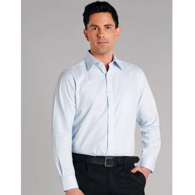Men's Mini Herringbone Long Sleeve Shirt