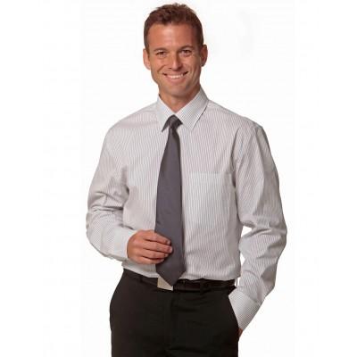 Men's Ticking Stripe Long Sleeve Shirt