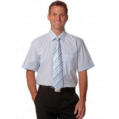 Men's Fine Stripe Short Sleeve Shirt