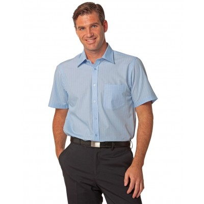 Men's Pin Stripe Short Sleeve Shirt