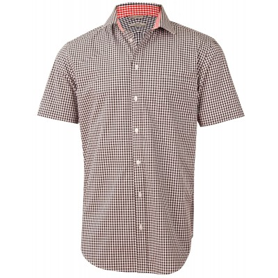 Men's Gingham Check Short Sleeve Shirt
