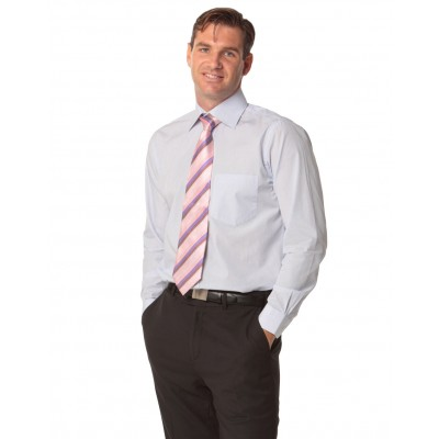Men's Mini Check Premium cotton long sleeve shirt