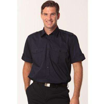 Men's Short Sleeve Military Shirt