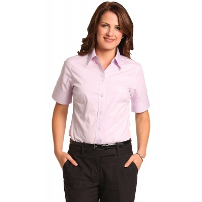 Women's Cvc Oxford Short Sleeve Shirt