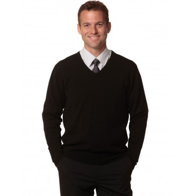 Men's V-Neck Long Sleeves Jumper