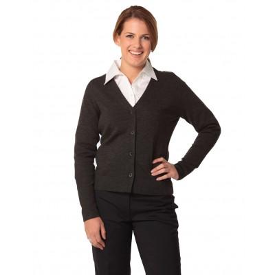Women's V-Neck Long Sleeve Cardigan