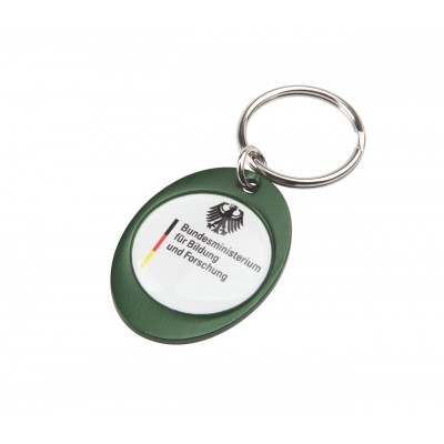 Rainbow Keyring (30x40mm Oval) - Indent