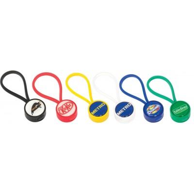 Globus Keyring Plastic Round - Indent