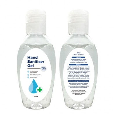 Promo Collection 50ml Hand Sanitiser Gel | PCA05