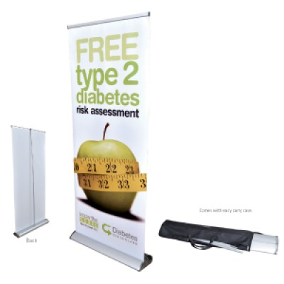 High Caliber The Deluxe 850mm Roll Up Banner