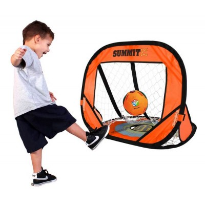 Summit Sport Soccer Ball & 2 in 1 Goal